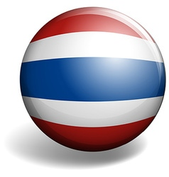 Thai flag on round badge vector image vector image