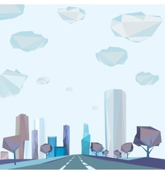 01 Polygonal city road vector