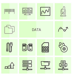 14 data icons vector