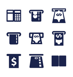 9 withdraw icons vector