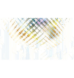 abstract technological dotted sound wave vector image