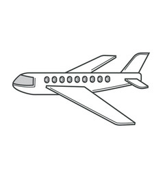 air transportation and airplane isolated icon vector image