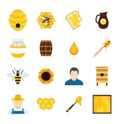 Apiary flat icon vector image