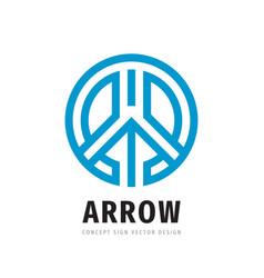 arrow concept logo design development business vector image
