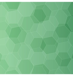 Background with green honeycombs vector