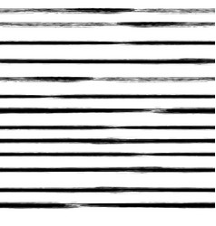 black and white striped seamless pattern vector image