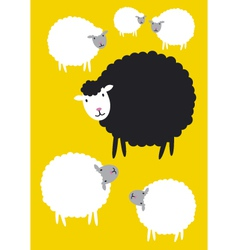 Black sheep concepts vector