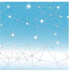 Blue white polygonal geometric background vector