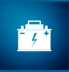 car battery icon isolated on blue background vector image