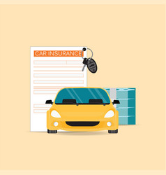 Car insurance with claim form vector