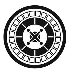Casino roulette icon simple style vector