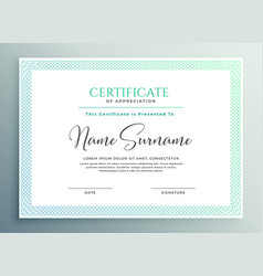 Certificate appreciation template design vector