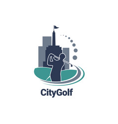 city golf logo sign symbol icon vector image