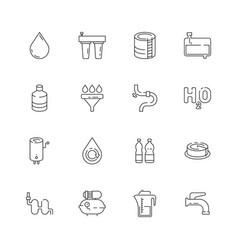 Clean water icon fresh drink dispenser machine vector