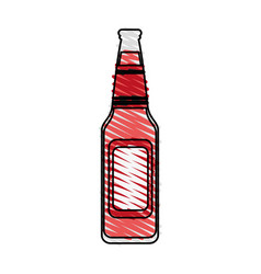 Color crayon stripe image bottle glass of refresh vector