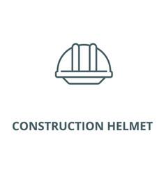 Construction helmet line icon vector