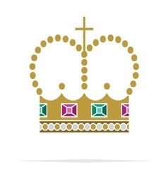 Crown icon2 resize vector image