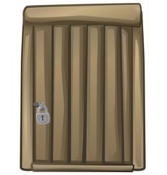 door wooden cartoon element vector image