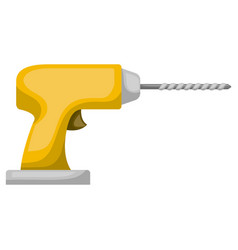 drill tool icon colorful silhouette with half vector image