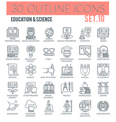 education science icons vector image