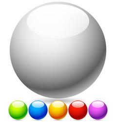 Empty stylish circles spheres vector