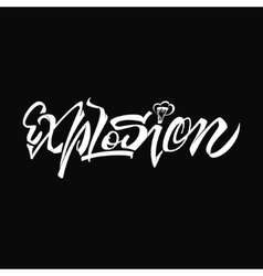 Explosion - lettering word for badges typography vector