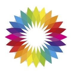 Flower of spectral colors or color spectrum vector