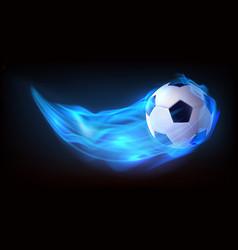 football balls flying in fire falling in flame vector image