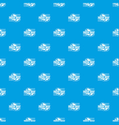 fresh beef pattern seamless blue vector image