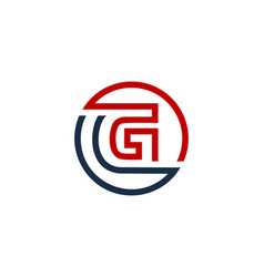 G letter circle line logo icon design vector