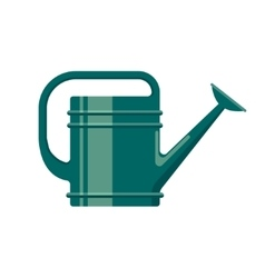 Gardening tool flat icon watering can isolated on vector image vector image