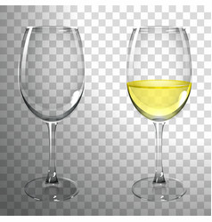 Glass white wine vector