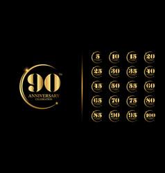 Golden anniversary celebration emblem design vector
