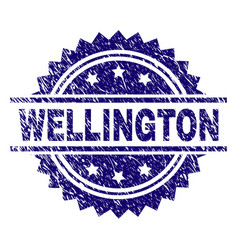Grunge textured wellington stamp seal vector