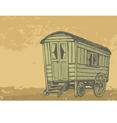 Gypsy caravan wagon vector