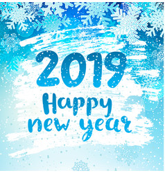 happy 2019 new year holidays geeting card vector image