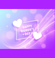 happy womans day greeting design background for vector image
