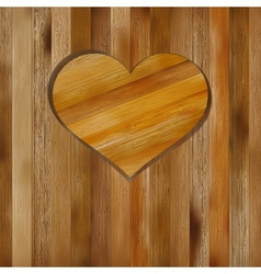 Heart in wood shape for your design EPS8 vector