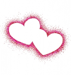 hearts illustration vector image