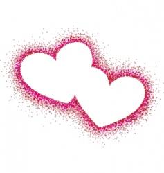 hearts illustration vector image