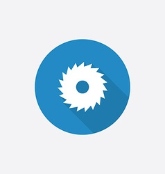Industrial saw Flat Blue Simple Icon with long vector