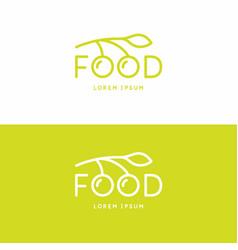 inscription food modern sign and emblem vector image