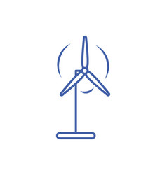 Isolated wind mill icon line design vector