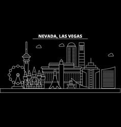 las vegas silhouette skyline usa - las vegas vector image