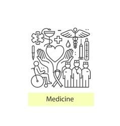 Modern of thin linear concept on a theme medicine vector