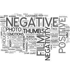 negativity word cloud concept vector image