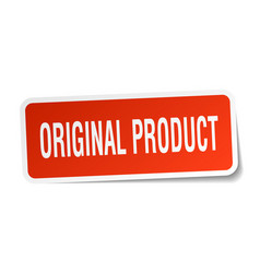 Original product square sticker on white vector