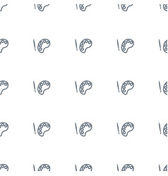 palette icon pattern seamless white background vector image