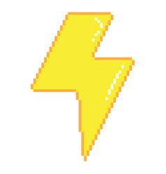 pixel lightning vector image