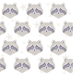 Raccoon seamless vector